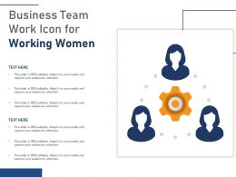 Business Team Work Icon For Working Women