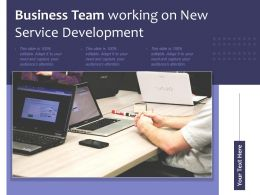 Business Team Working On New Service Development
