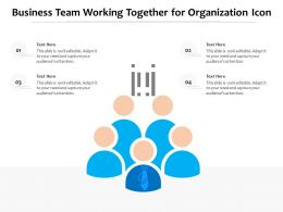 Business Team Working Together For Organization Icon