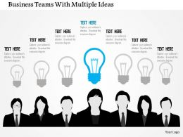 business_teams_with_multiple_ideas_flat_powerpoint_design_Slide01