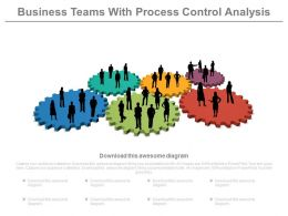 Business Teams With Process Control Analysis Powerpoint Slides