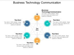 Business Technology Communication Ppt Powerpoint Presentation Slides Portfolio Cpb