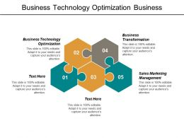Business Technology Optimization Business Transformation Sales Marketing Management Cpb