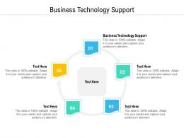 Business Technology Support Ppt Powerpoint Presentation Pictures Structure Cpb