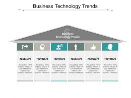 Business Technology Trends Ppt Powerpoint Presentation Pictures Graphics Download Cpb