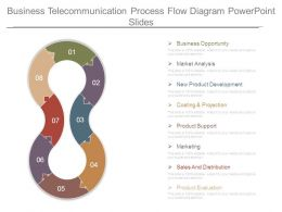 Business Telecommunication Process Flow Diagram Powerpoint Slides