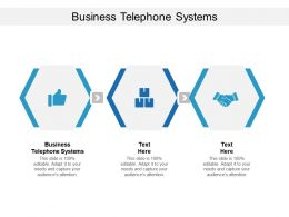 Business Telephone Systems Ppt Powerpoint Presentation Show Maker Cpb