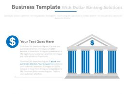 Business Template With Dollar Banking Solutions Powerpoint Slides