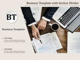 Business Template With Section Divider