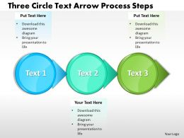 Business Templates three circle text arrow process steps Sales PPT Slides