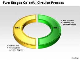 Business Templates two phase diagram ppt colorful circular process Sales Slides