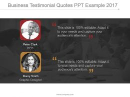 Business Testimonial Quotes Ppt Example 2017