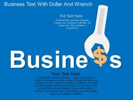 Business Text With Dollar And Wrench Flat Powerpoint Desgin
