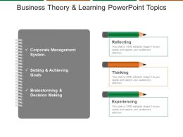 Business Theory And Learning Powerpoint Topics