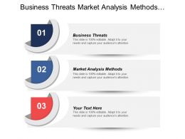 Business Threats Market Analysis Methods Developing Sales Leads Cpb