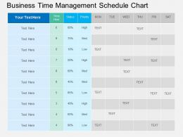 Business Time Management Schedule Chart Flat Powerpoint Desgin