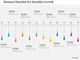 business_timeline_for_monthly_growth_flat_powerpoint_design_Slide01