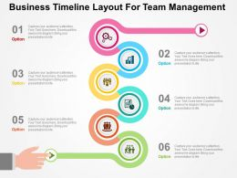 Business Timeline Layout For Team Management Flat Powerpoint Design
