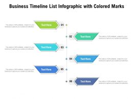 Business Timeline List Infographic With Colored Marks