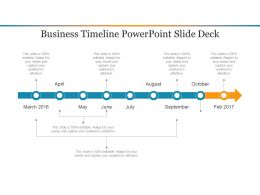 Business Timeline Powerpoint Slide Deck