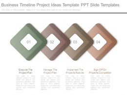 Business Timeline Project Ideas Template Ppt Slide Templates