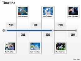 Business Timeline Roadmap Diagram 0114