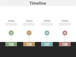 Business Timeline With Year Based Analysis Powerpoint Slides