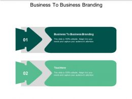 Business To Business Branding Ppt Powerpoint Presentation Slides Ideas Cpb