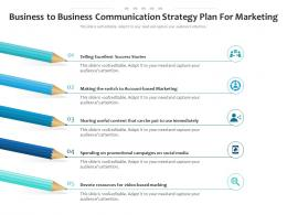 Business To Business Communication Strategy Plan For Marketing Infographic Template