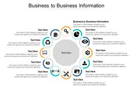 Business To Business Information Ppt Powerpoint Presentation Slides Examples Cpb