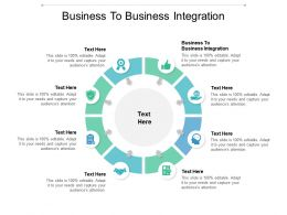 Business To Business Integration Ppt Powerpoint Presentation Infographic Template Cpb
