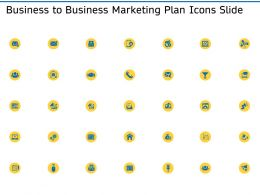 Business To Business Marketing Plan Icons Slide Ppt Graphics Design