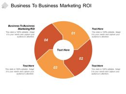 Business To Business Marketing ROI Ppt Powerpoint Presentation Professional Templates Cpb