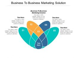 Business To Business Marketing Solution Ppt Powerpoint Presentation Pictures Introduction Cpb