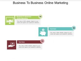Business To Business Online Marketing Ppt Powerpoint Presentation Slides Information Cpb