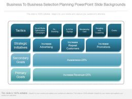 Business To Business Selection Planning Powerpoint Slide Backgrounds