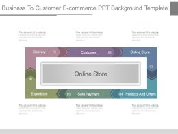Business To Customer E Commerce Ppt Background Template