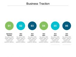 Business Traction Ppt Powerpoint Presentation Ideas Aids Cpb