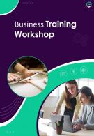 Business Training Classes Two Page Brochure Template