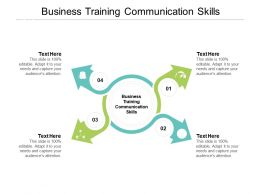 Business Training Communication Skills Ppt Powerpoint Presentation Inspiration Model Cpb