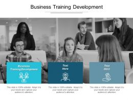 Business Training Development Ppt Powerpoint Presentation Professional Brochure Cpb