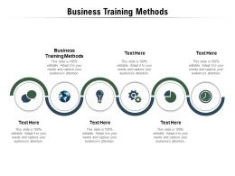 Business Training Methods Ppt Powerpoint Presentation Outline Designs Cpb