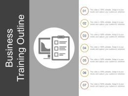 Business Training Outline Ppt Slide Styles