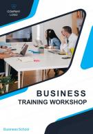 Business Training Workshop Two Page Brochure Template