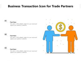 Business Transaction Icon For Trade Partners