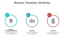Business Transaction Monitoring Ppt Powerpoint Presentation Outline Backgrounds Cpb