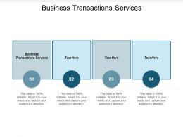 Business Transactions Services Ppt Powerpoint Presentation Gallery Guide Cpb
