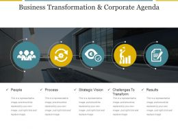 Business Transformation And Corporate Agenda Powerpoint Slide Ideas