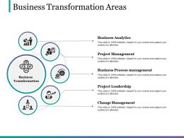 Business Transformation Areas Powerpoint Slides Templates