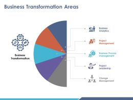 Business Transformation Areas Ppt Infographic Template
